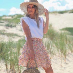 Women's Floral Elastic Waist Skirt